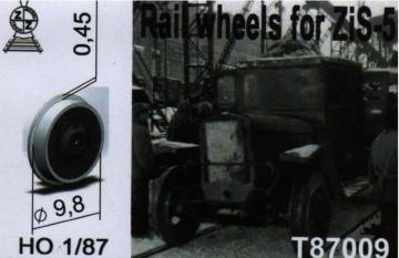 Rail wheels for ZiS-5 · ZZ T87009 ·  ZZ Modell · 1:87