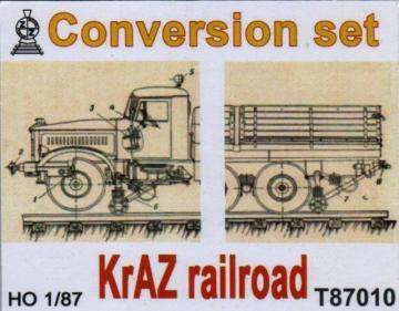 KrAZ railroad (conversion set) · ZZ T87010 ·  ZZ Modell · 1:87