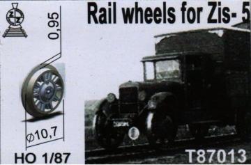 Rail wheels for ZiS-5 · ZZ T87013 ·  ZZ Modell · 1:87