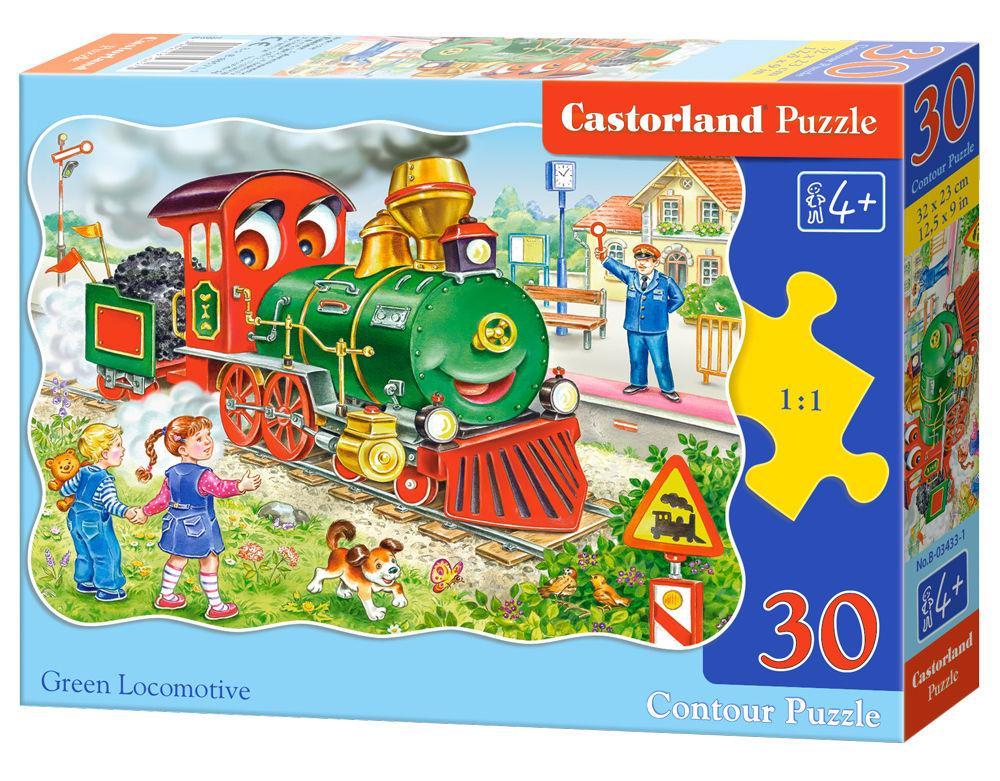 Green Locomotive - Puzzle - 30 Teile