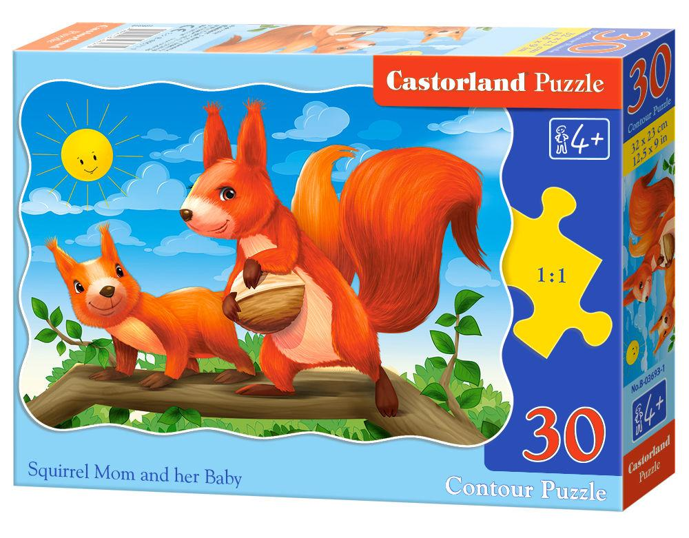Squirrel Mom and her Baby - Puzzle - 30 Teile