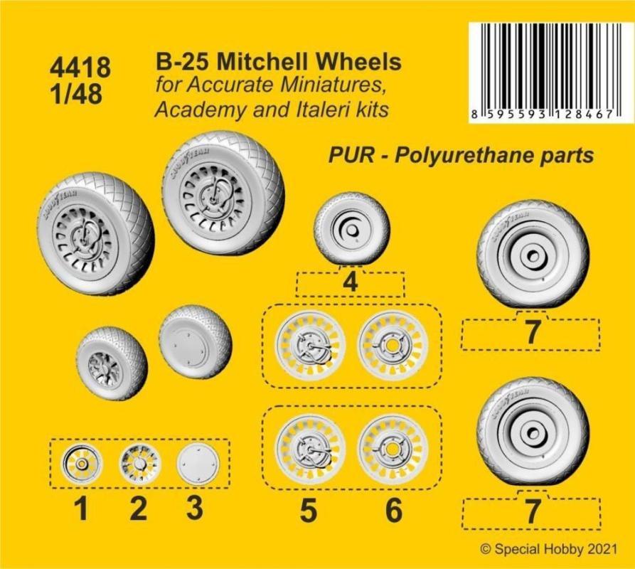 B-25 Mitchell - Wheels