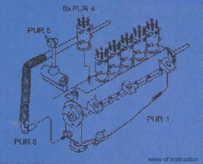Mercedes 260 hp D Iva - Motor set