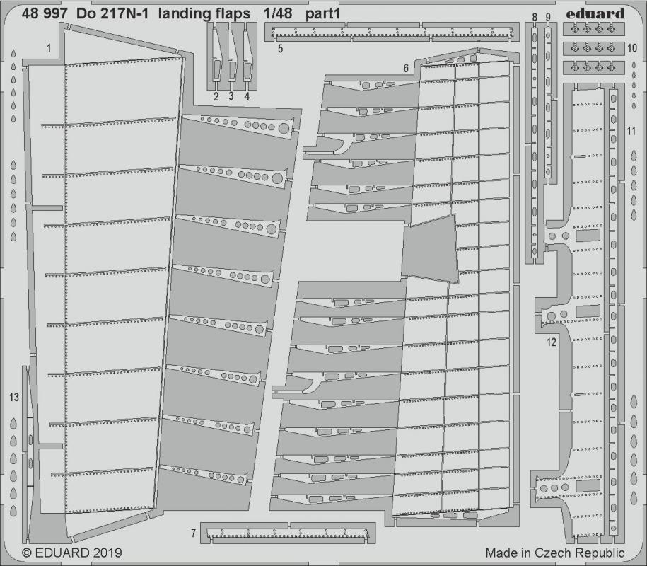 EDUARD 48997 Landing Flaps for ICM Kit Dornier Do217N-1 in 1:48