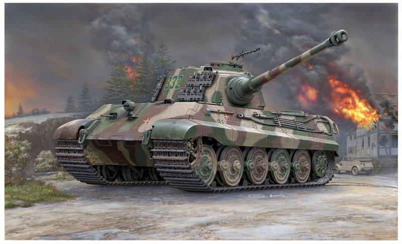 Panzer Tiger II Henschel Camo Front Ist Militär 1//50 Opag Reihe