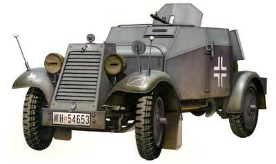 German Adler Kfz. 13 Armored Car - Bronco Models - BRON CB35032