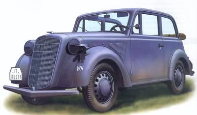 Light Staff Car Mod. 1937 (Cabrio) - Bronco Models - BRON CB35047