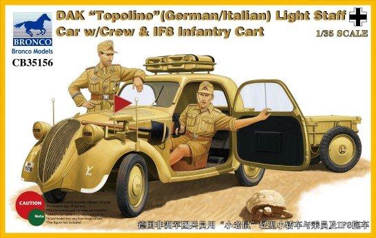 DAL Topolino Staff Car w/Crew - Bronco Models - BRON CB35156