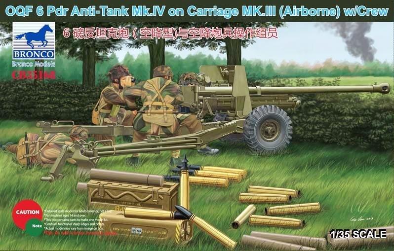 OQF6 Pdr Gun Mk.IV/Car. Mk III(Airb) - Bronco Models - BRON CB35168