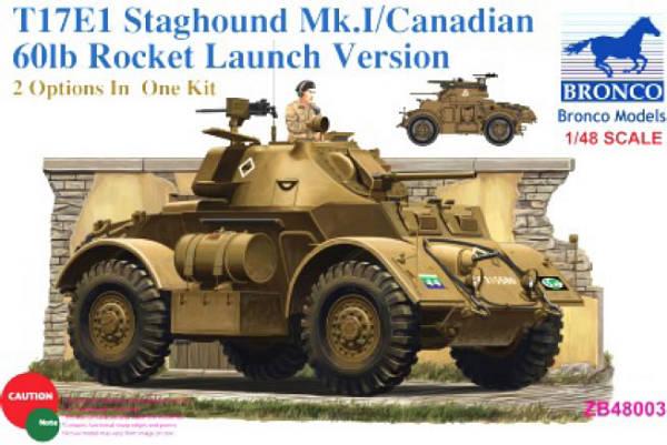 Can. T17E1 Staghound Mk.I w/60lb Rockets - Bronco Models - BRON ZB48003