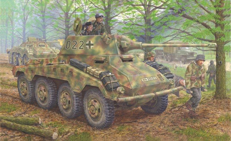 WWII Dt. SdKfz.234/2 Puma Radpanzer