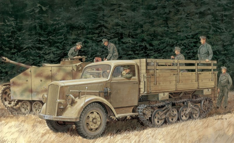 German Half-Track Truck Maultier