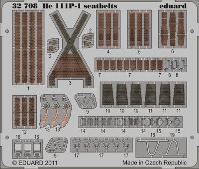 Heinkel He 111 seatbelts for Revell