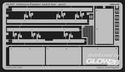 Schürzen Panther Ausf.G late Für Dragon Bausatz