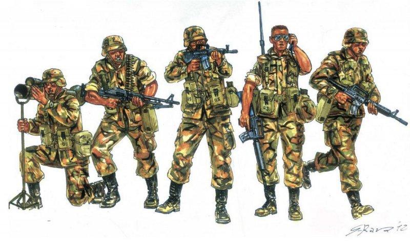 Moderne US-Soldaten