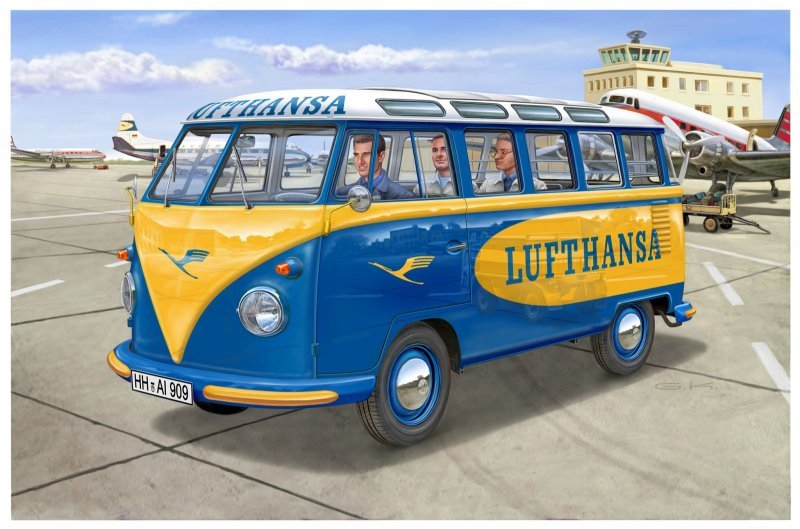 Model Set VW T1 Samba Bus Lufthansa