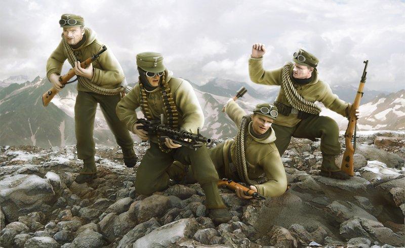 WWII Dt. Gebirgsjäger